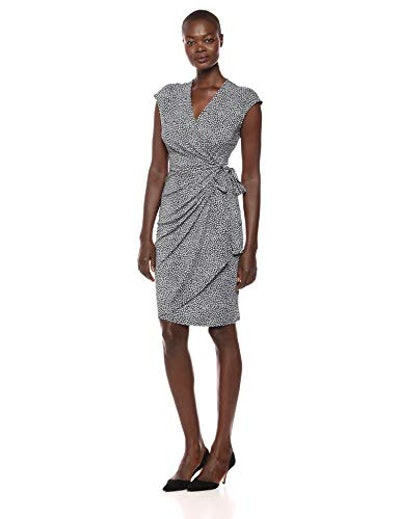 Lark & Ro Cap Sleeve Wrap Dress