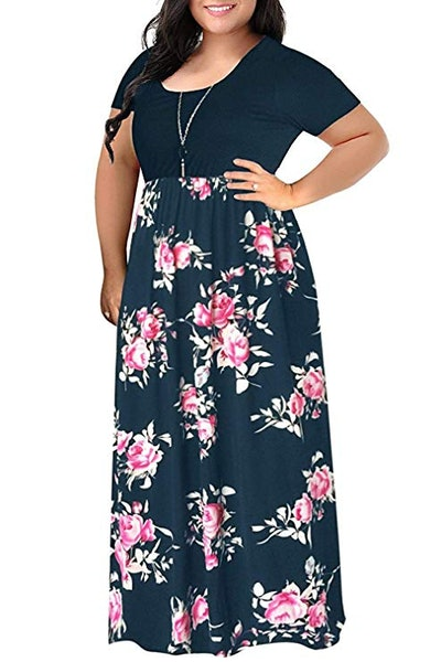VISLILY Plus Size Casual Maxi Dress