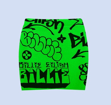 BILLIE EILISH X FREAK CITY GREEN GRAFFITI SKIRT + DIGITAL ALBUM