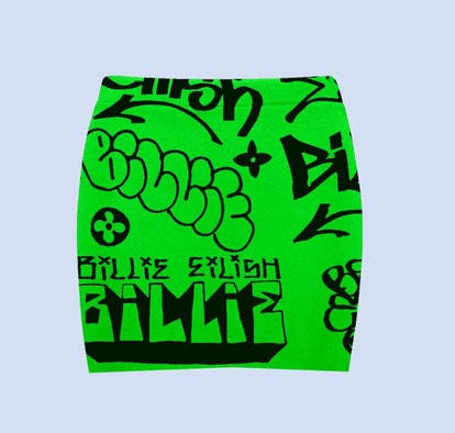 BILLIE EILISH X FREAK CITY GREEN GRAFFITI SKIRT + DIGITAL ALBUM