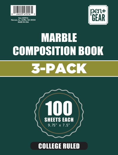 Marble Composition Notebook (3 pk)