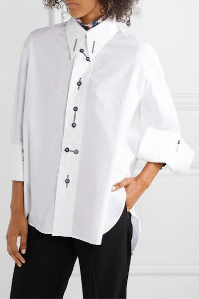 palmer//harding Linked Cotton-Blend Poplin Shirt