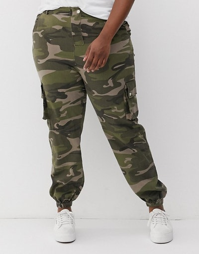 New Look Camo Utility Pants In Green Pattern