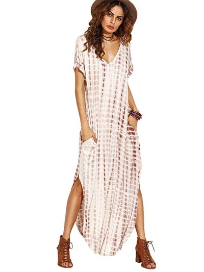MAKEMECHIC Casual Maxi Tie Dye Dress