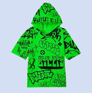 BILLIE EILISH X FREAK CITY GREEN GRAFFITI HOODIE + DIGITAL ALBUM