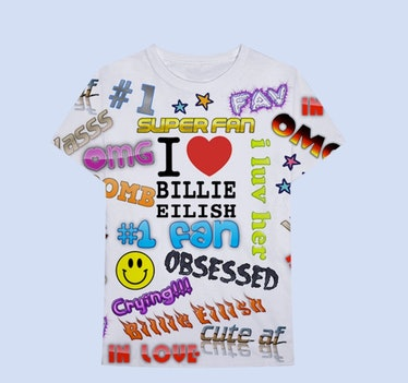 BILLIE EILISH X FREAK CITY SUPER FAN ALL OVER PRINT T-SHIRT + DIGITAL ALBUM