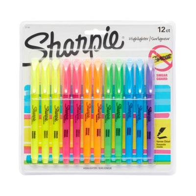 Sharpie Pocket Style Highlighters (12 count)