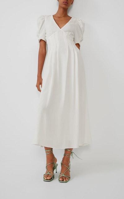 Voluminous Textured Weave Dress