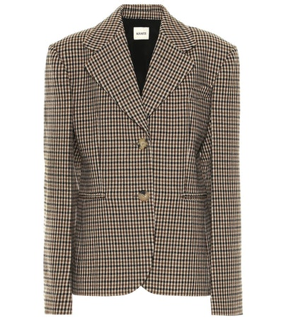 Kendall Checked Wool Blend Blazer