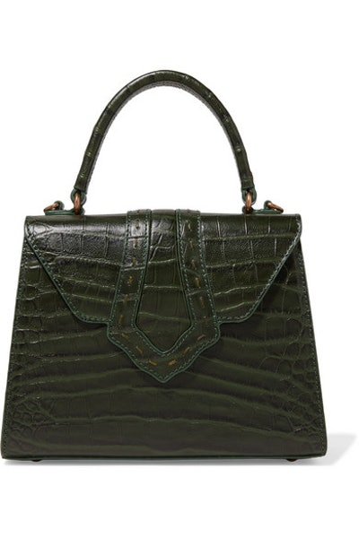 Fey Croc-Effect Leather Tote