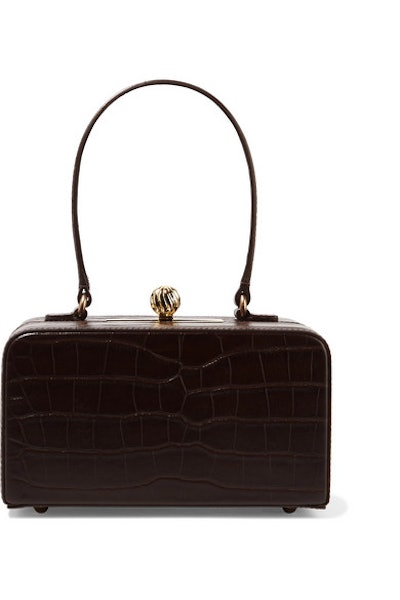 Fey In The '50s Croc-Effect Leather Tote