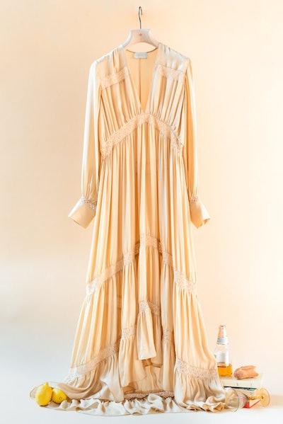The Phoebe Long Sleeved Silk Layer Dress