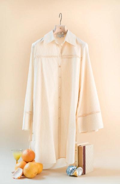 The Elsa Mini Cotton Silk Shirt Dress