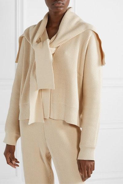 LE 17 SEPTEMBRE Convertible Ribbed Cotton Cardigan