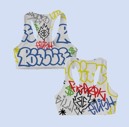 BILLIE EILISH X FREAK CITY GRAFFITI SPORTS BRA + DIGITAL ALBUM