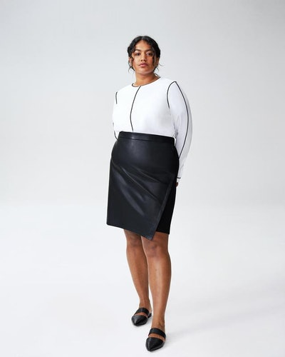 Mosman Leatherette Skirt - Black