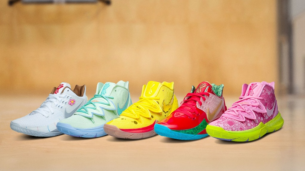 09a92606699 Where To Get These Nike x SpongeBob SquarePants Sneakers, Because Kyrie  Irving's Designs Are So Coral