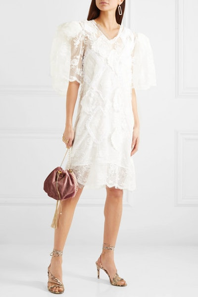 Agnieszka Appliquéd Lace Mini Dress