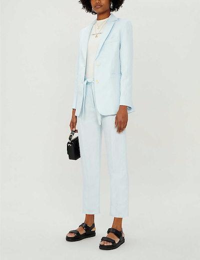 Vizane Linen-Blend Twill Blazer & Palizane Pleated Trousers