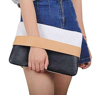 Badiya Mixed Color Clutch Handbag