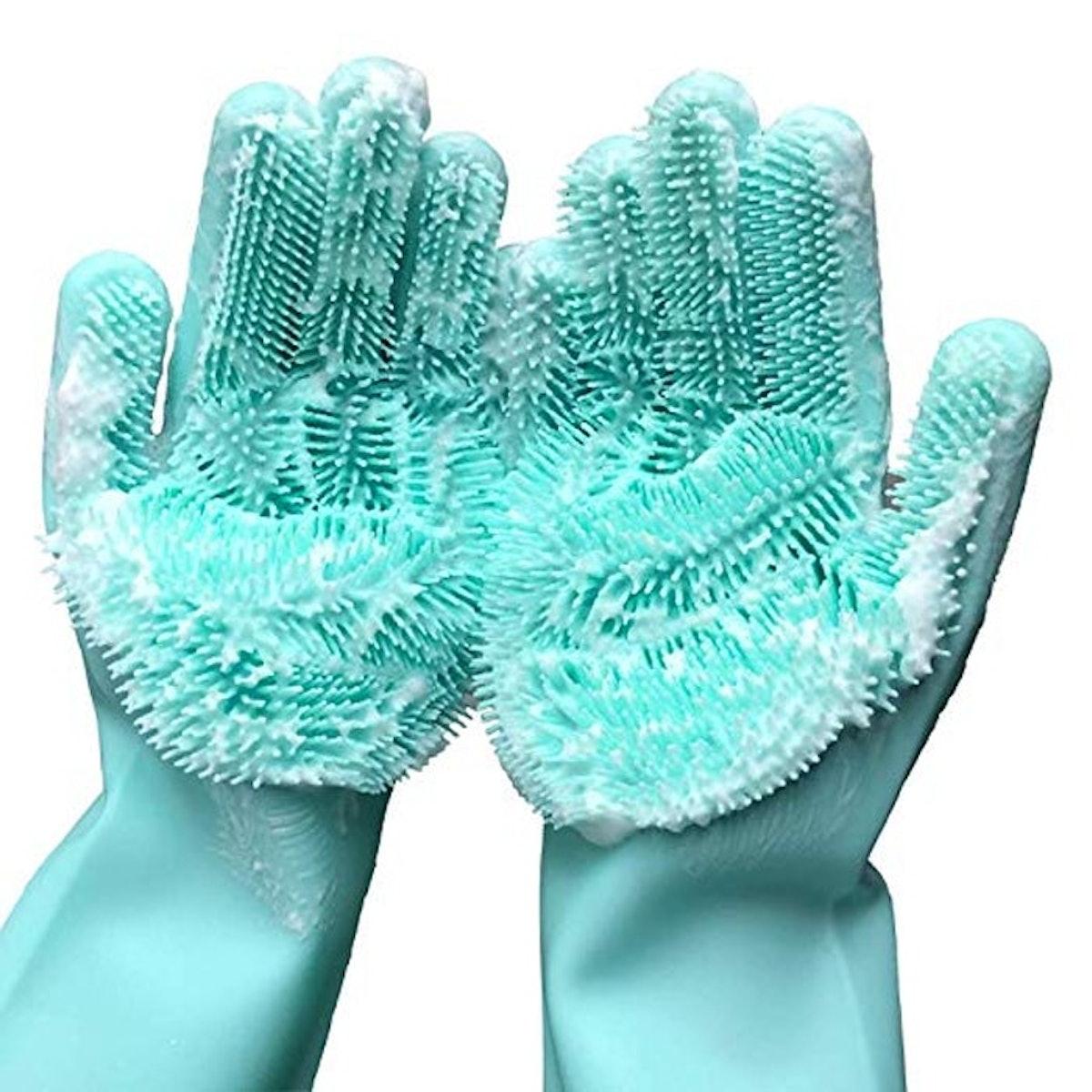 Forliver Cleaning Sponge Gloves