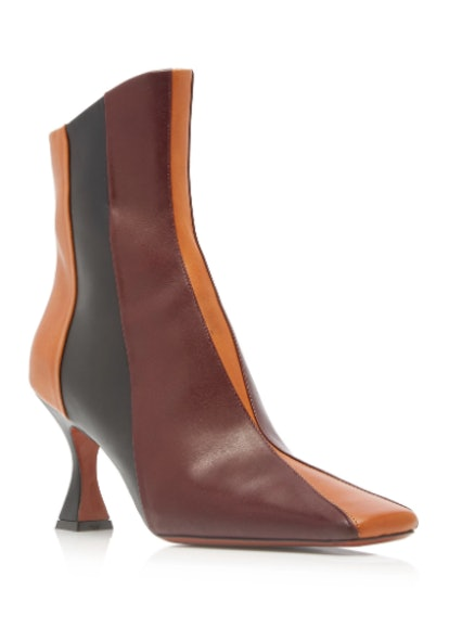 Duck Two Tone Leather Ankle Boots
