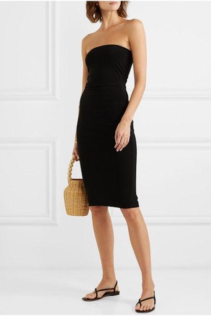 Strapless Stretch-Jersey Dress
