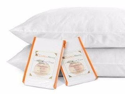 PeachSkinSheets Night Sweats: The Original 1500tc Soft Standard Pillowcase Set Graphite Gray