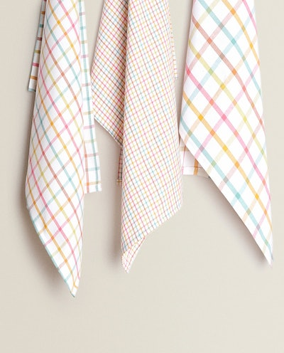 COTTON KICHEN TOWEL WITH MULTICOLORED STRIPES (PACK OF 3)
