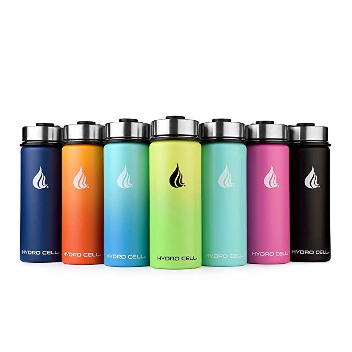 HYDRO CELL Stainless Steel Water Bottle w/Straw & Wide Mouth Lids