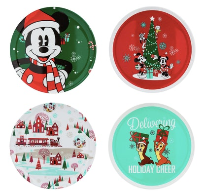 Mickey Mouse and Friends Holiday Plate Set