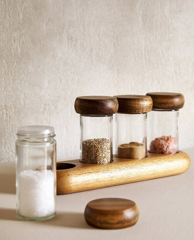 SPICE RACK WITH BASE (SET OF 4)