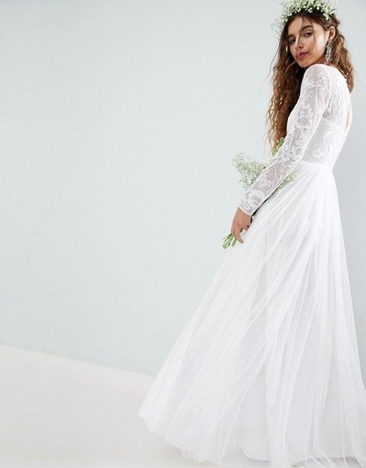 Asos Wedding Dress.Tadashi Shoji Alexia Tiered Lace Off The Shoulder Wedding Dress