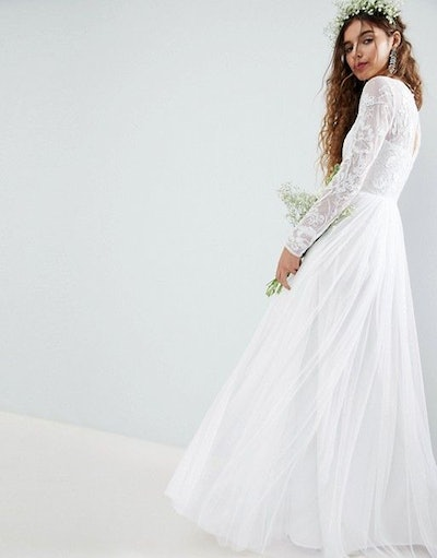 ASOS Embroidered Bodice Maxi Wedding Dress