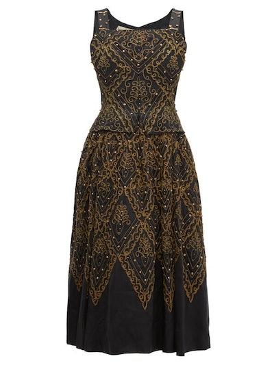 Dior 1955 La Mexique Faille Gown