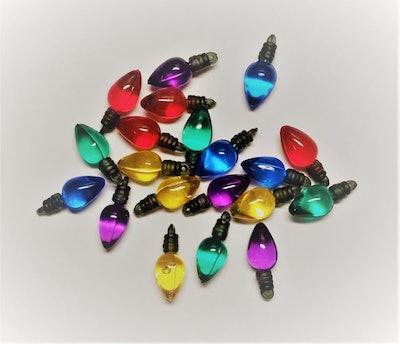 5 Piece Set - Small Christmas Light Bulb Pendants