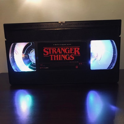 Stranger Things Music-Controlled VHS Retro Multicolored LED Lamp