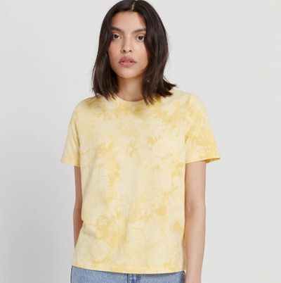 Good Cotton Tie-Dye Tee in Yellow