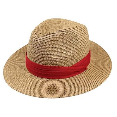 DRESHOW Women Straw Panama Hat