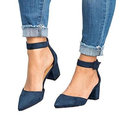 Laicigo Block Heel Shoes