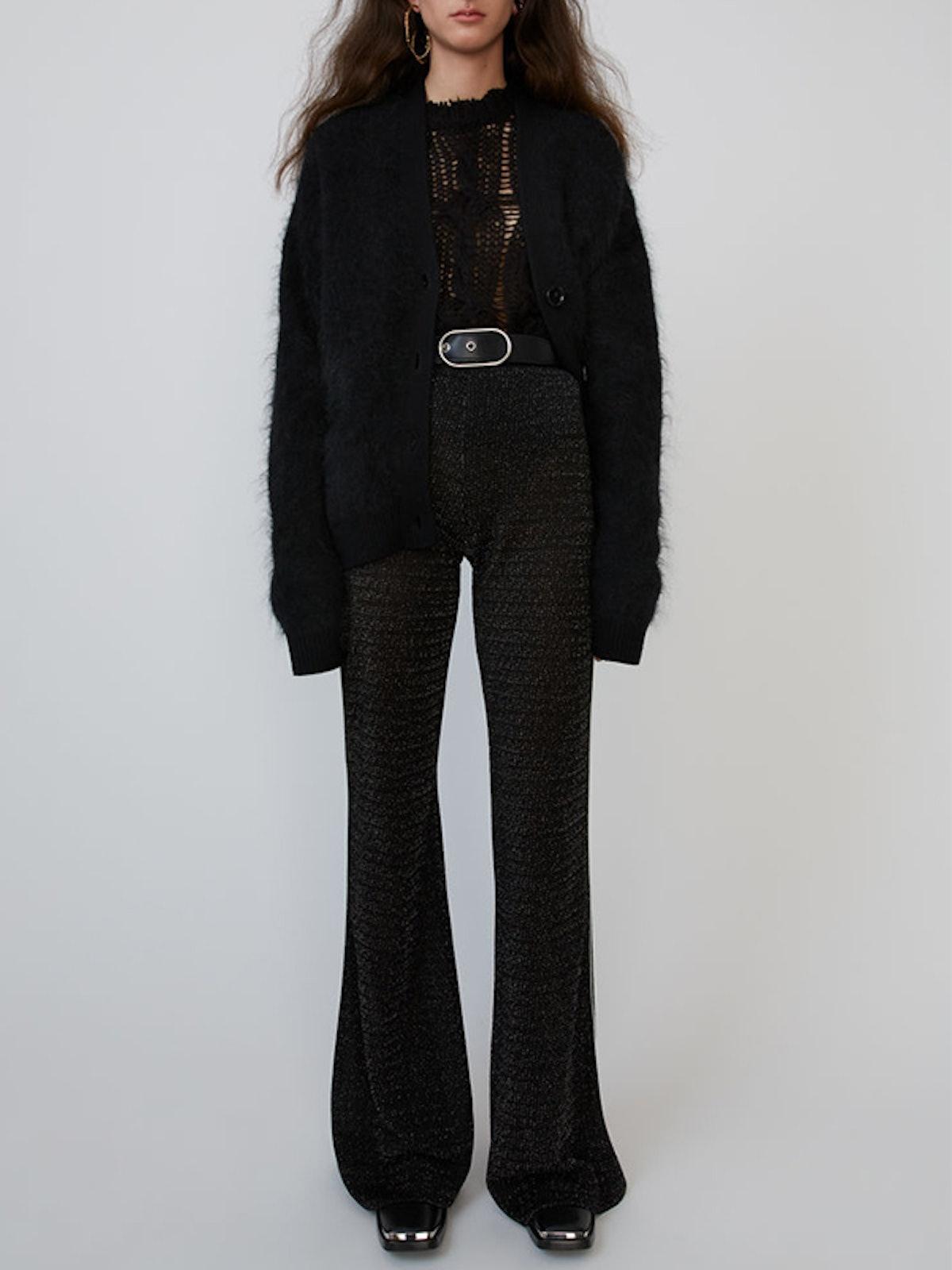 Lurex Trousers Black