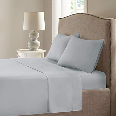 Comfort Spaces Coolmax Moisture Wicking 4 Piece Set Smart Bed Cooling Sheets for Night Sweats