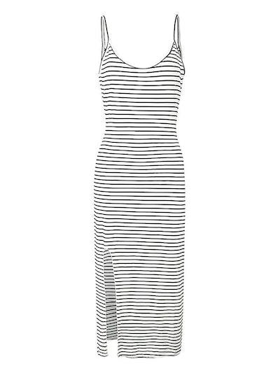 PERSUN Women's Cotton Plain Sleeveless Casual Long Tank Dress