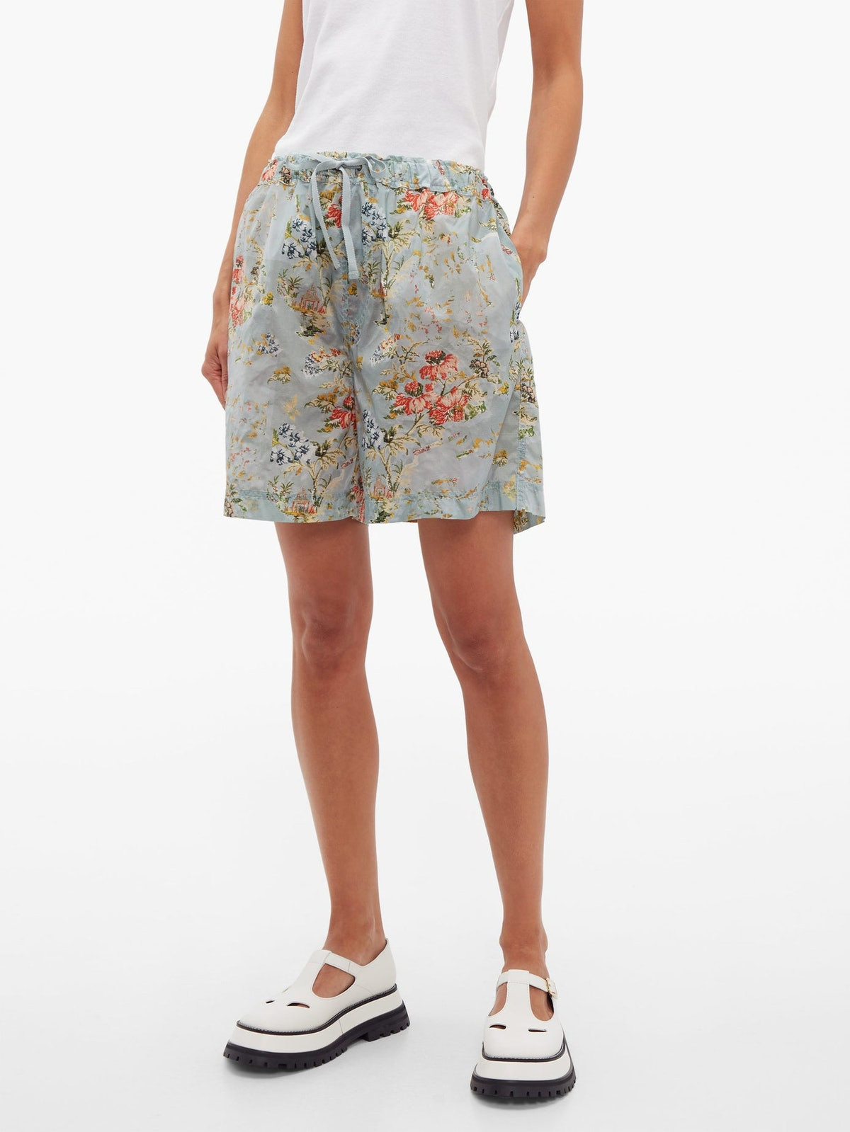 Isabelle Tapestry-Print Ripstop Shorts