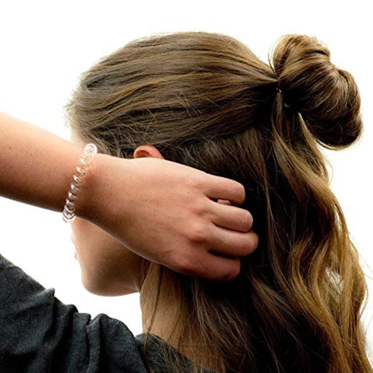Kitsch Clear Coil Hair Ties (4-Pack)