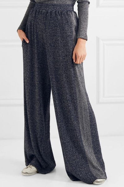 Sophie Lurex Wide-Leg Pants