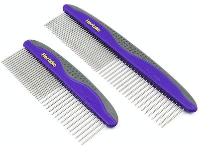 Hertzko Pet Combs (2-Pack)