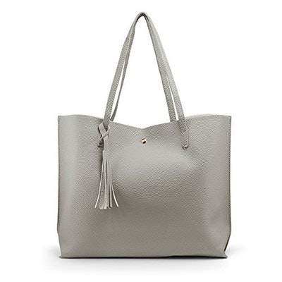 Oct17 Faux Leather Tote Bag