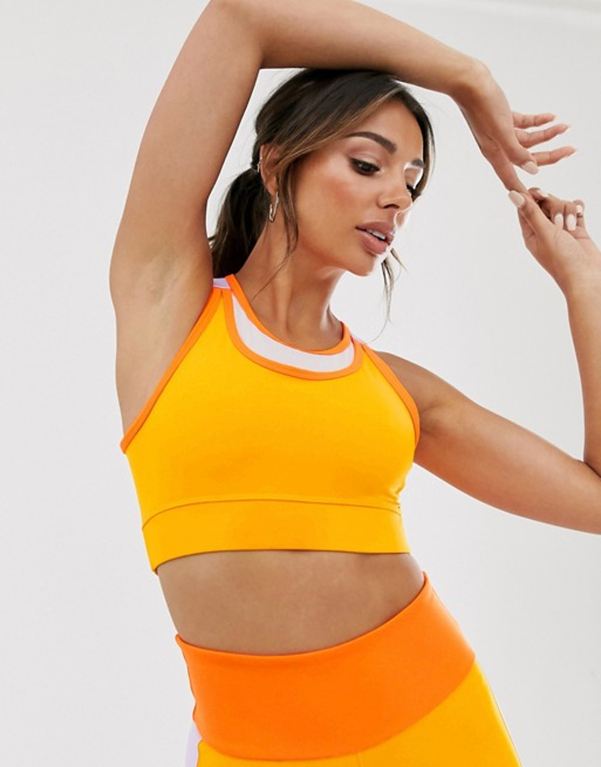 ASOS 4505 Sports Bra with Mesh Back and Strap Detail