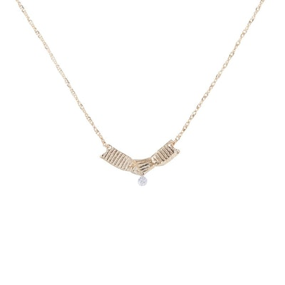 Ribbon Necklace, Diamond